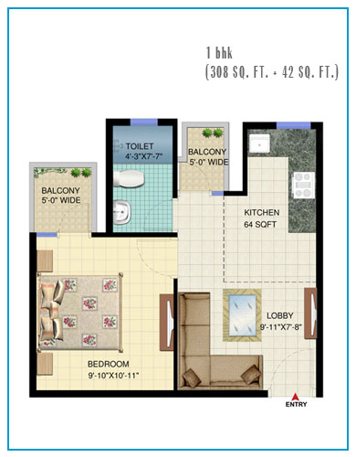 floor-paln-of-signature-global-solera-sector-107-affordable-housing-project-gurgaon-floor-plan