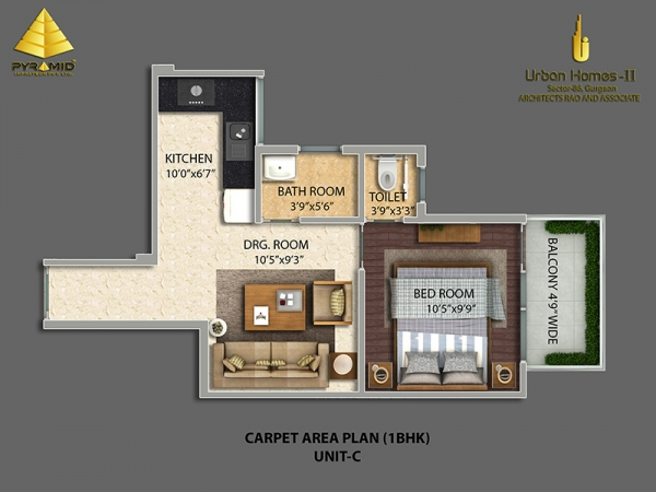 1bhk-34050-floor-plan-of-pyramid-urban-homes-2-affordable-housing-project-sector-86
