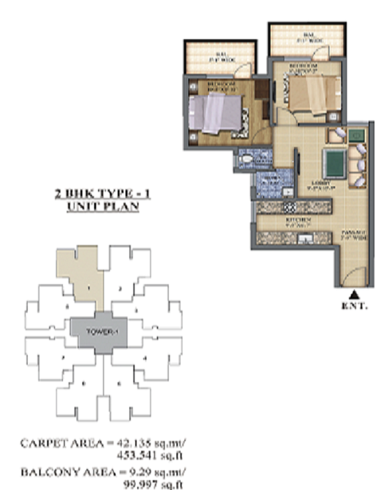 pareena-laxmi-appartment-sector-99a-affordable-housing-project-gurgaon-floor-plan