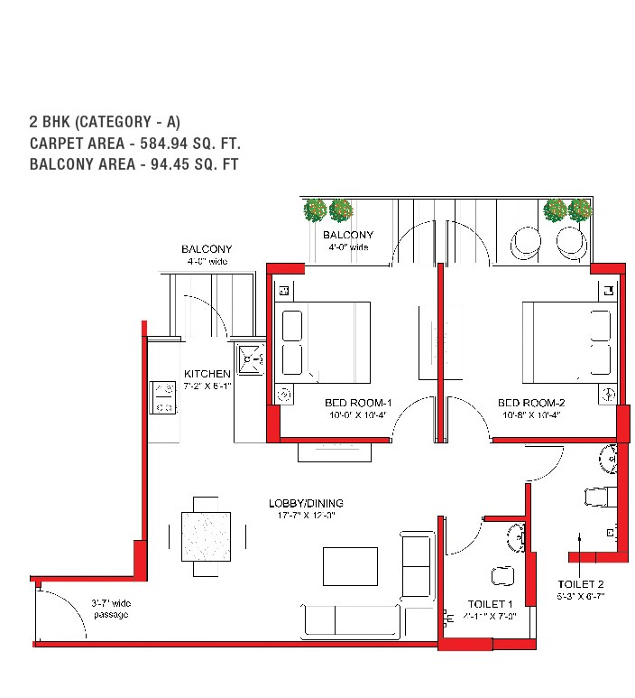 SIGNATURE GLOBAL GRAND IVA SECTOR 103 AFFORDABLE HOUSING PROJECT GURGAON FLOOR PLAN