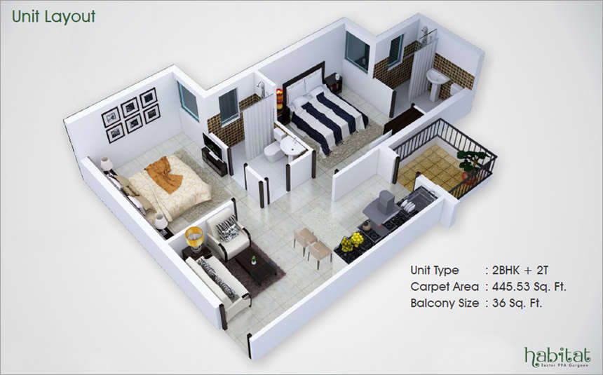 conscient-the-habital-sector-99a-affordable-housing-project-gurgaon-floor-plan