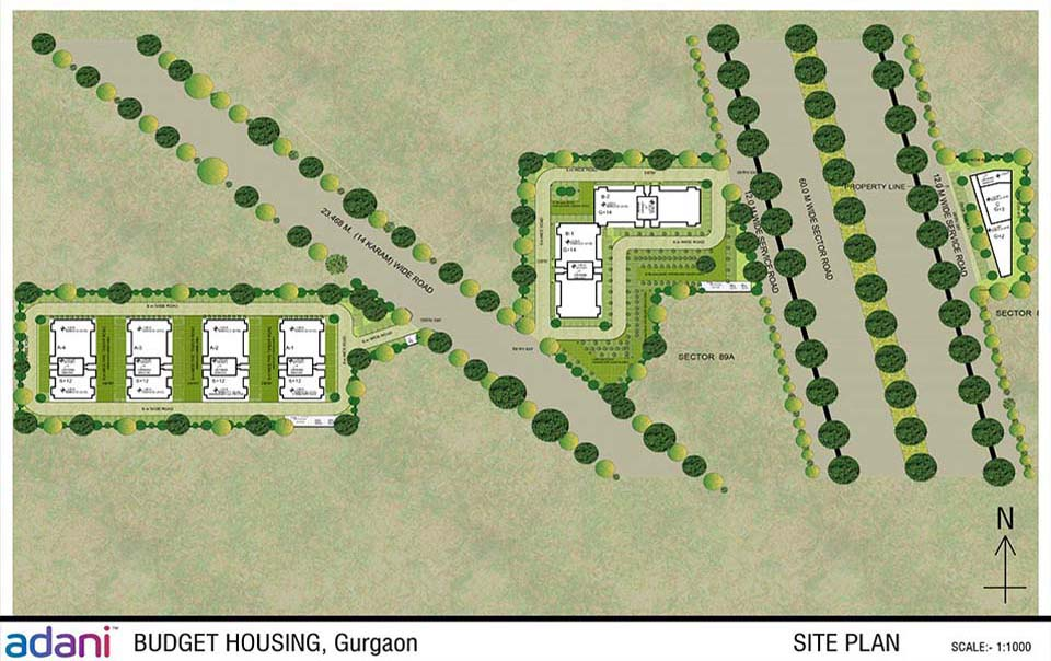 ADANI AANGAN SECTOR 88A 89A AFFORDABLE HOUSING PROJECT GURGAON SITE PLAN