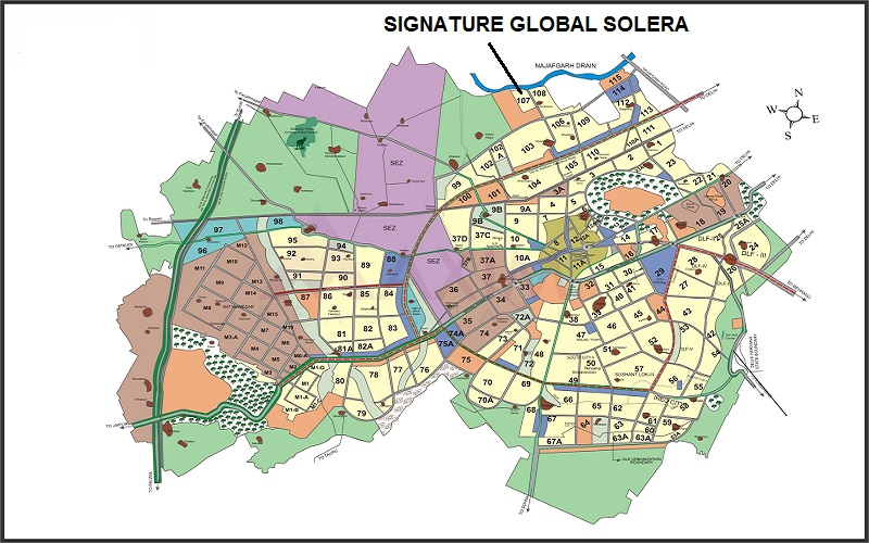 -signature-global-solera-sector-107-affordable-housing-project-gurgaon-location-map