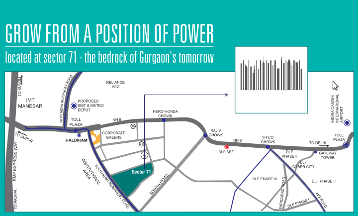signature-global-andour-heights-sector-71-affordable-housing-project-gurgaon-location-map