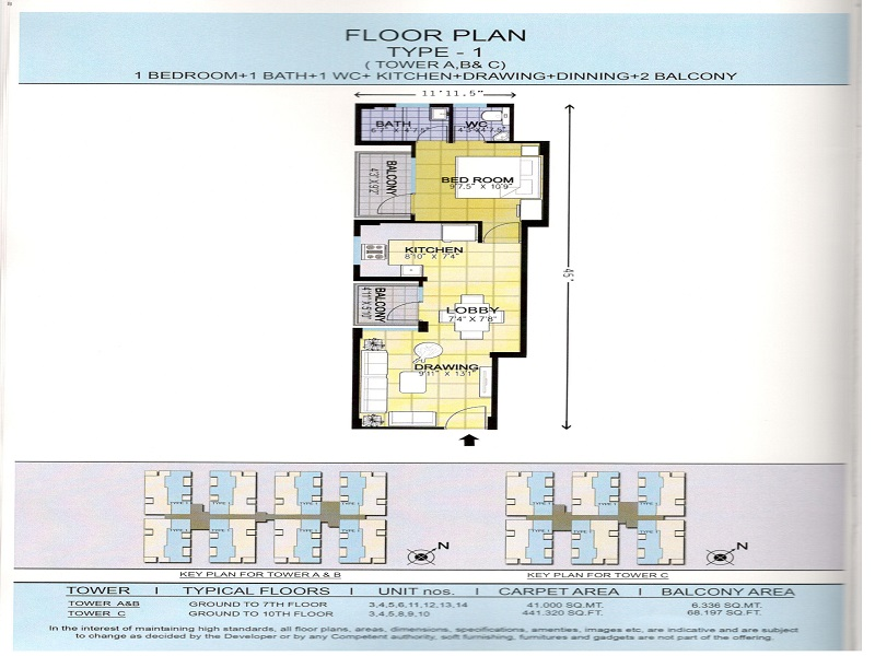 NINEX RMG RESIDENCE OF SECTOR 37C AFFORDABLE HOUSING PROJECT  GURGAON FLOOR PLAN