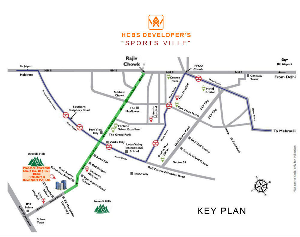 location-map-of-hcbs-ville-sector-235-sohna-affordable-housing