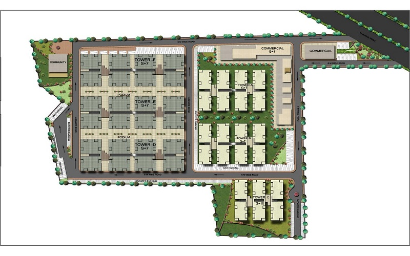 NINEX RMG RESIDENCE OF SECTOR 37C AFFORDABLE HOUSING PROJECT  GURGAON SITE PLAN