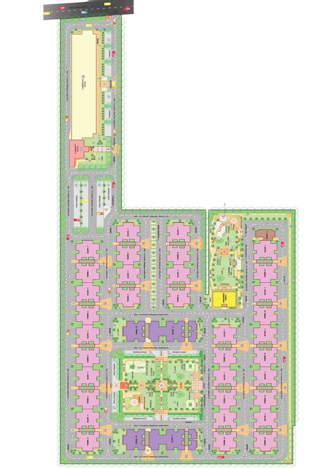 site-plan-of-global-heights-sector-33-affordable-housing