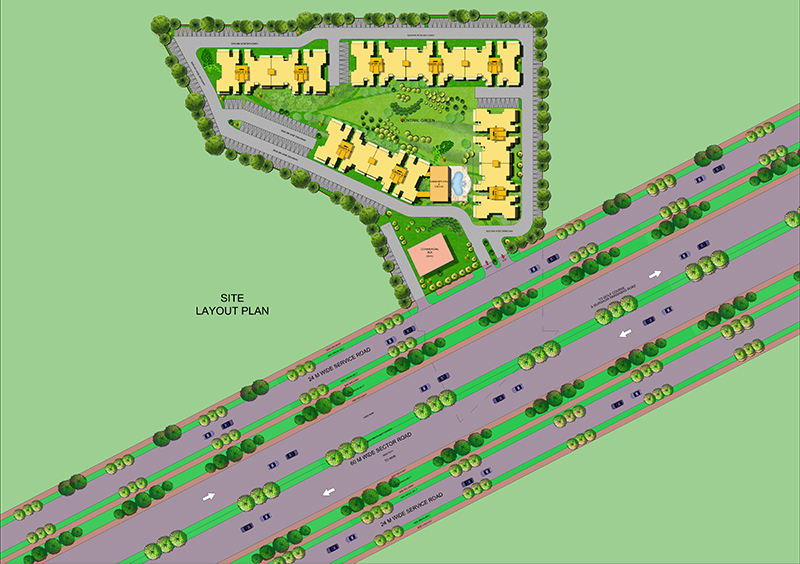 bedawral golf drive site plan gurgaon