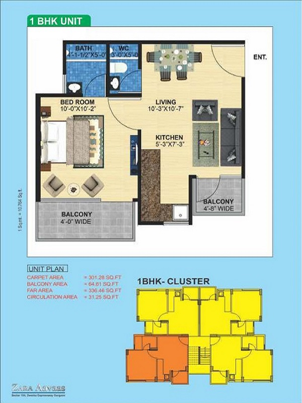 1bhk-30164-floor-plan-of-zara-aavaas-affordable-housing-project-gurgaon