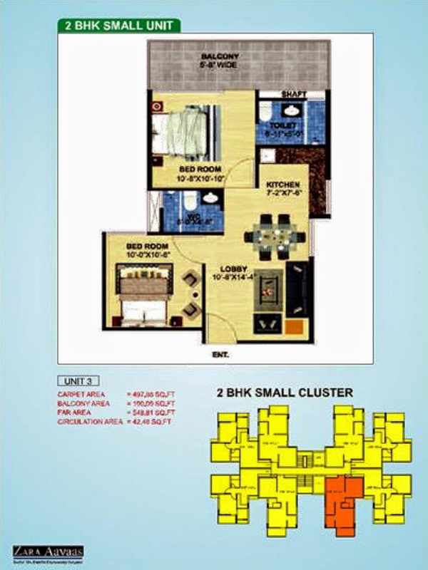 2bhk-497100-floor-plan-of-zara-aavaas-affordable-housing-project-gurgaon