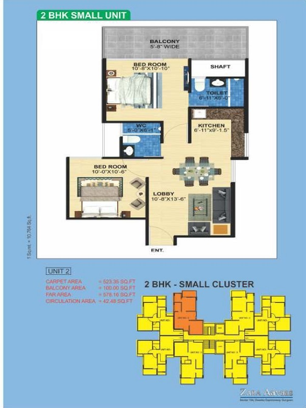 2bhk-523100-floor-plan-of-zara-aavaas-affordable-housing-project-gurgaon