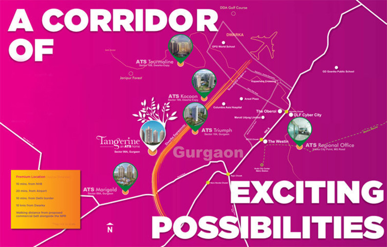 locaton-map-of-ats-grand-stand-sector-99a-gurgaon