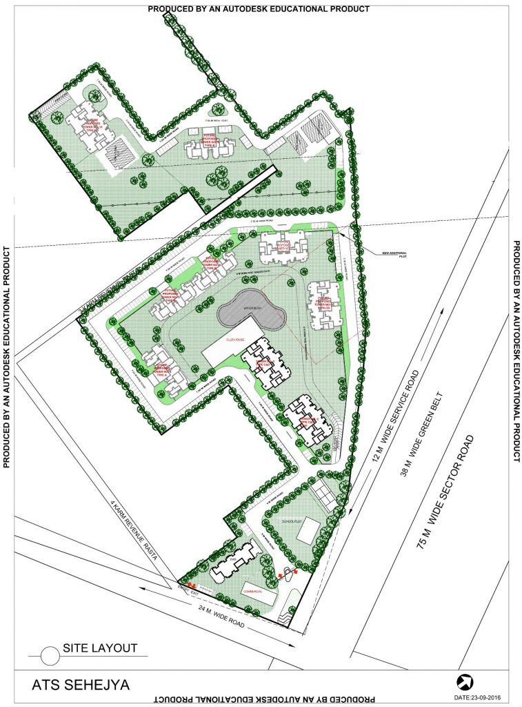 site-plan-of-ats-grand-stand-sector-99a-gurgaon