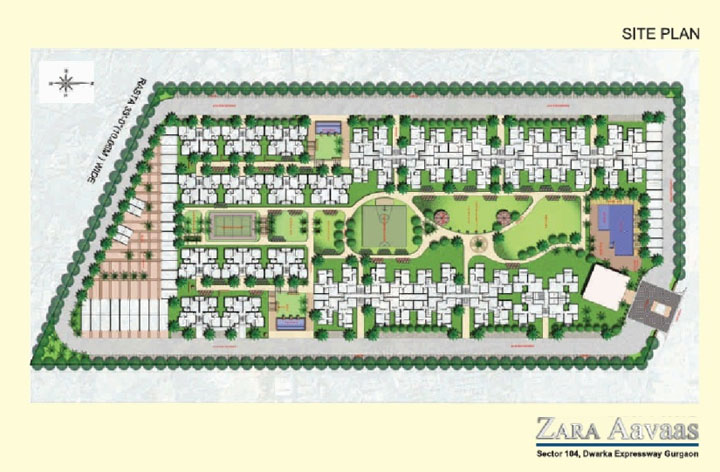 site-plan-of-zara-aavaas-sector-104naffordable-housing-project-gurgaon
