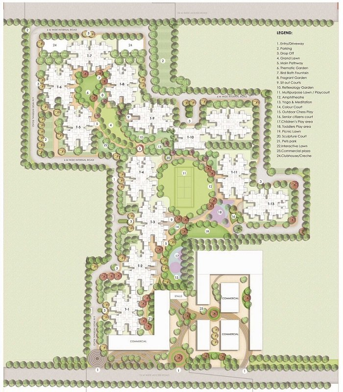 Signature global the serenas sector 36 sohna site plan
