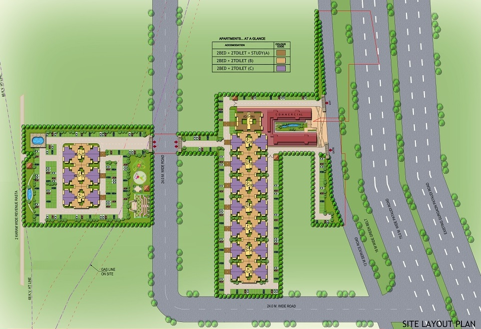 Haryana Affordable Housing Project Signature Global The Roselia Sector 95a Gurgaon flsite Plan