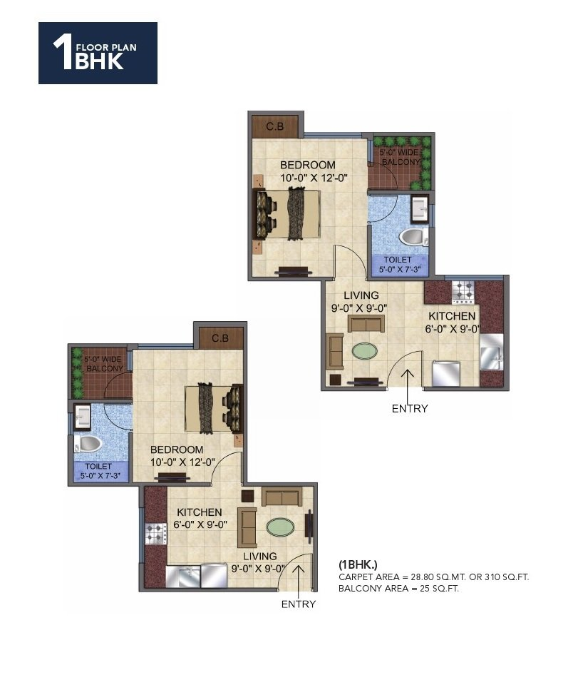 GLS Avenue 51 Sector 92 Gurgaon 1bhk floor plan affordable housing project