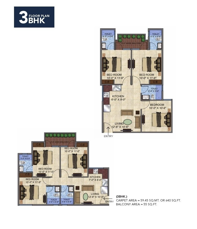 GLS Avenue 51 Sector 92 Gurgaon 3bhk floor plan affordable housing project