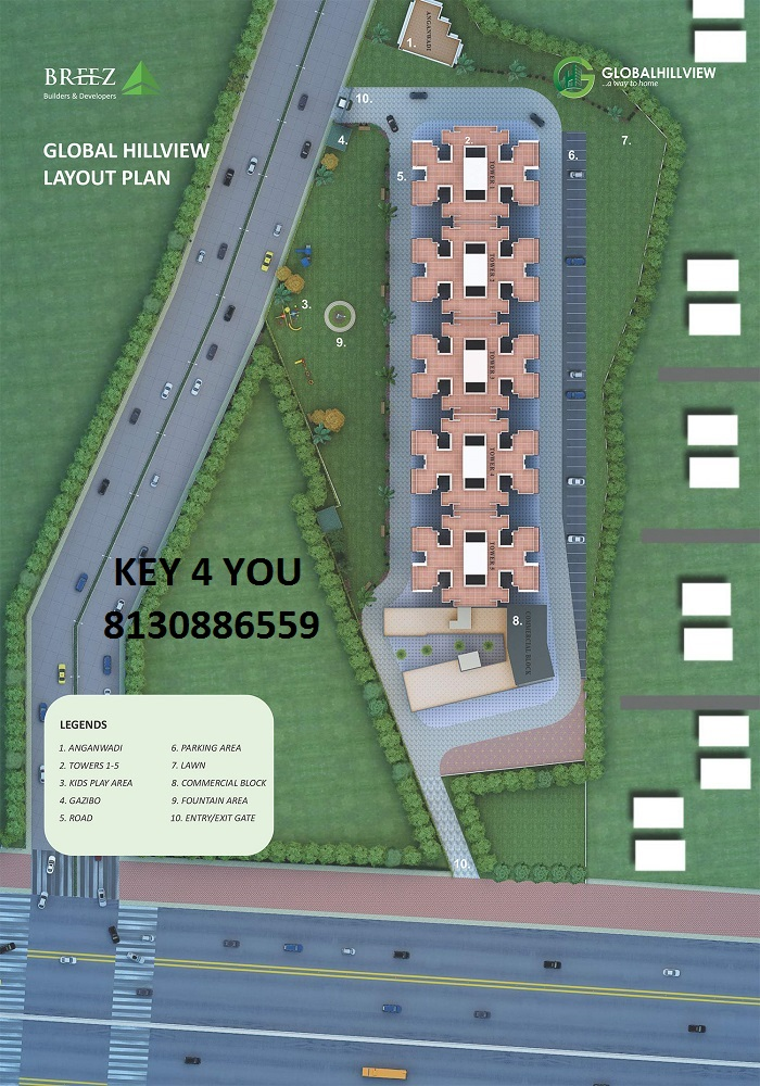 Global Hill View Sector 11 Sohna Site Plan haryana affordable housing project