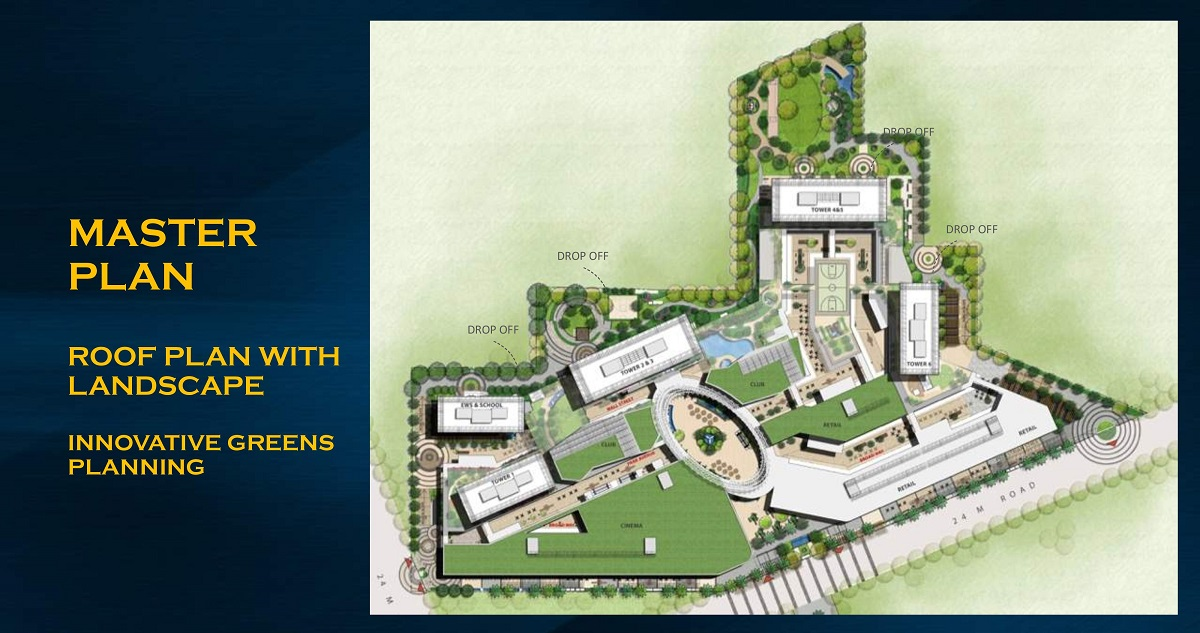 M3M Heights site plan
