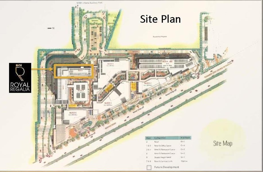 M3M Royal regalia site plan