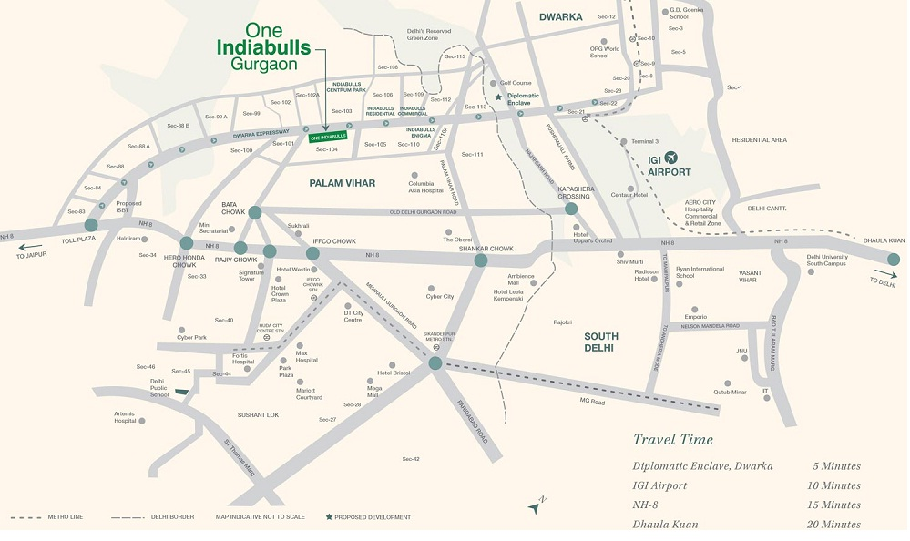 Location Map one Indiabulls Sector 104