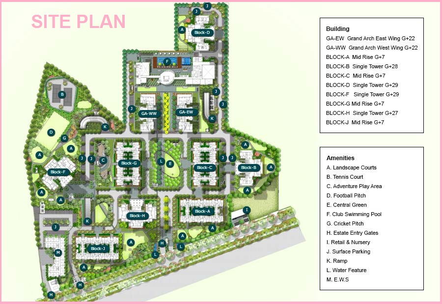 Grand Arch Sector 58 Site Plan