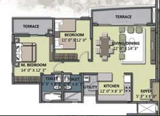 universal aura sector 82 floor plan