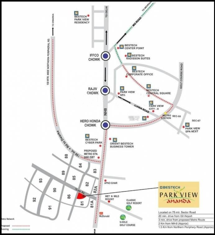 Park view ananda location map