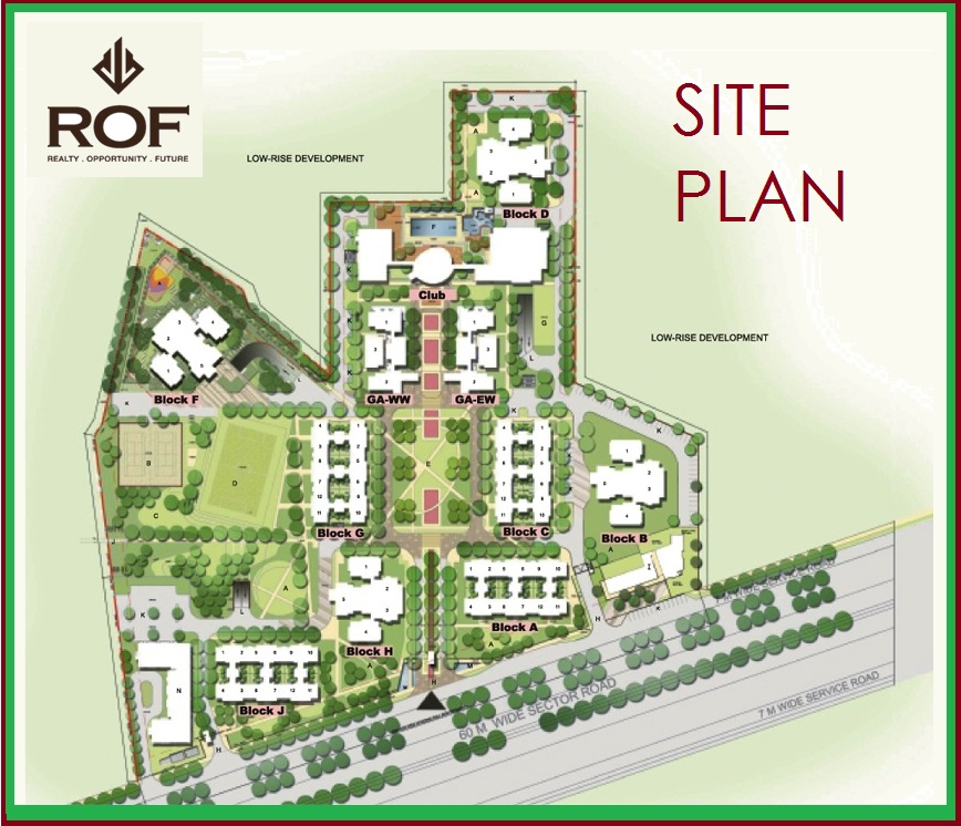 Site Plan of ROF Affordable Sector 58