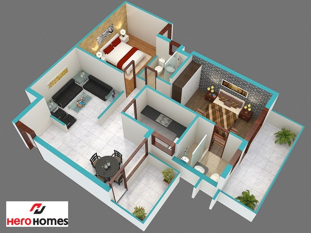 Hero homes sector 104 gurgaon residential project for 4 bhk villa interior design