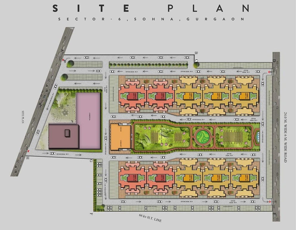 Our homes 3 site plan sector 6 sohna for Home site plan