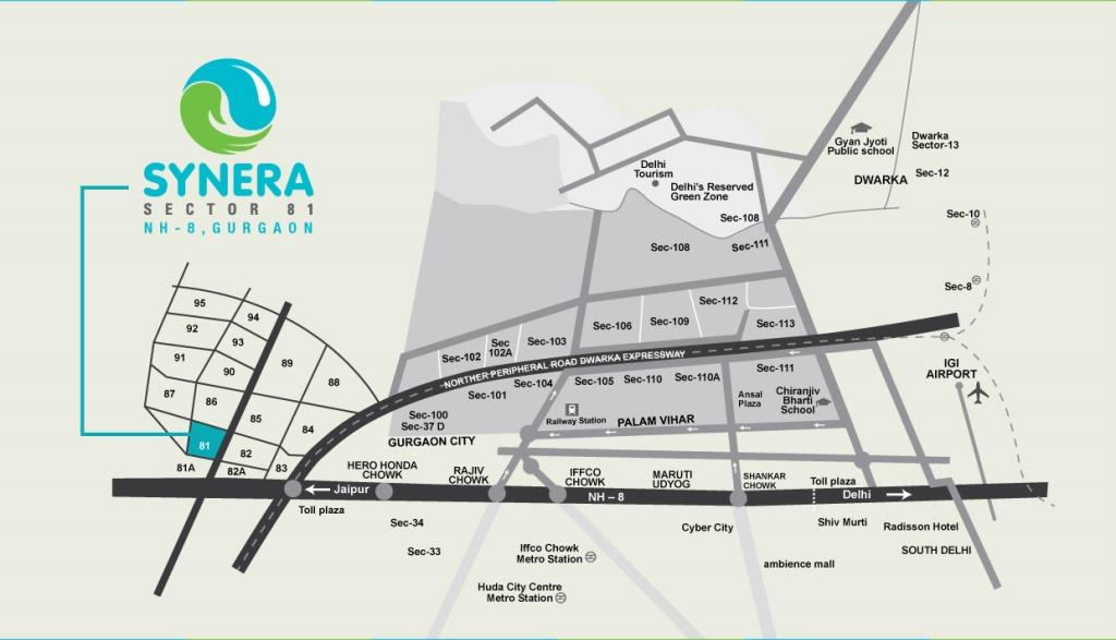 Affordable Housing Gurgaon Sector 81 location map
