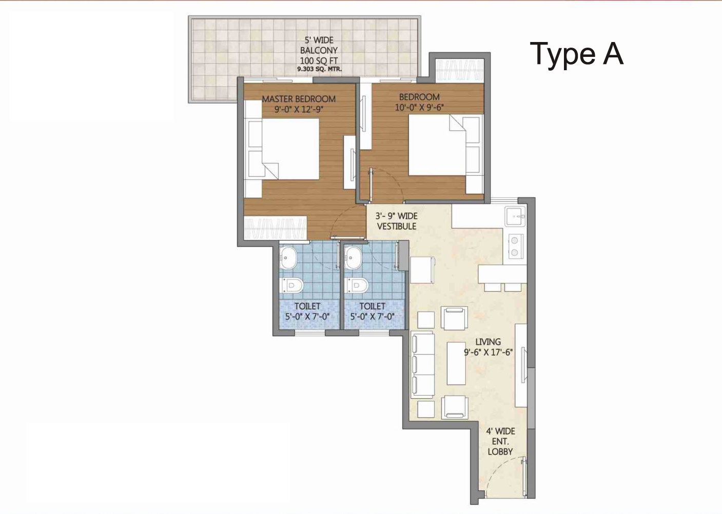 Type a pivotal deevan sector 84 affordable housing project for Floor plan project
