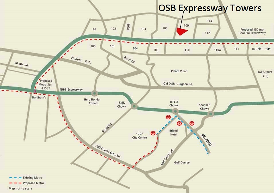 Ocean Seven Expressway Towers Location map