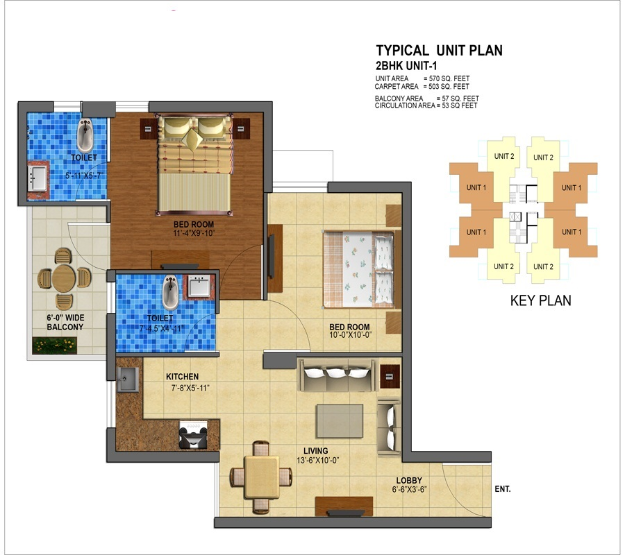 affordable housing project in sector 112 gurgaon 2BHK TYPE 1