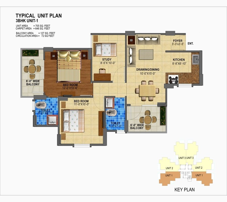 affordable housing scheme in sector 112 gurgaon 3BHK TYPE 1