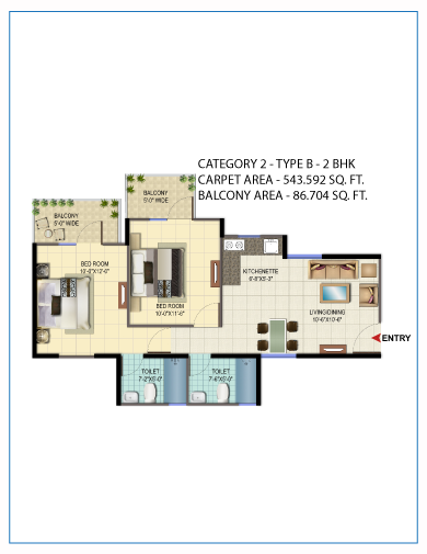 Signature Global affordable housing projects in gurgaon 2 bhk