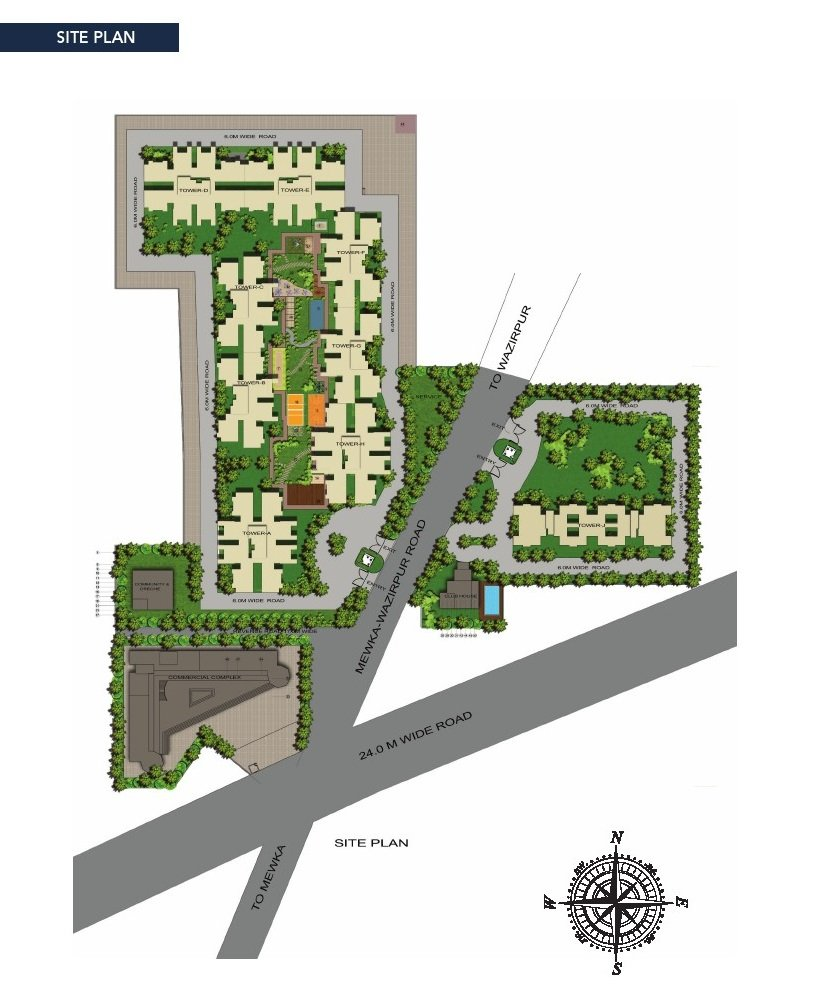 Gls affordable housing projects in gurgaon Site Plan