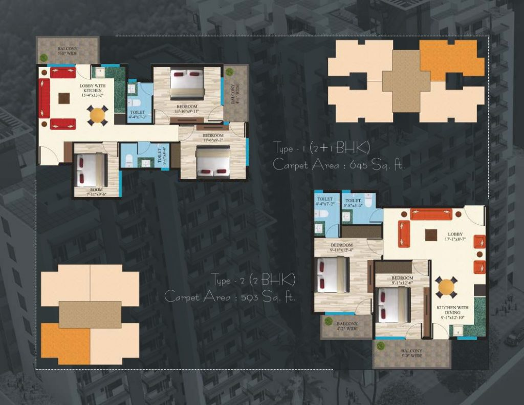 affordable housing project in sector 89 Gurgaon floor plan 2 bhk
