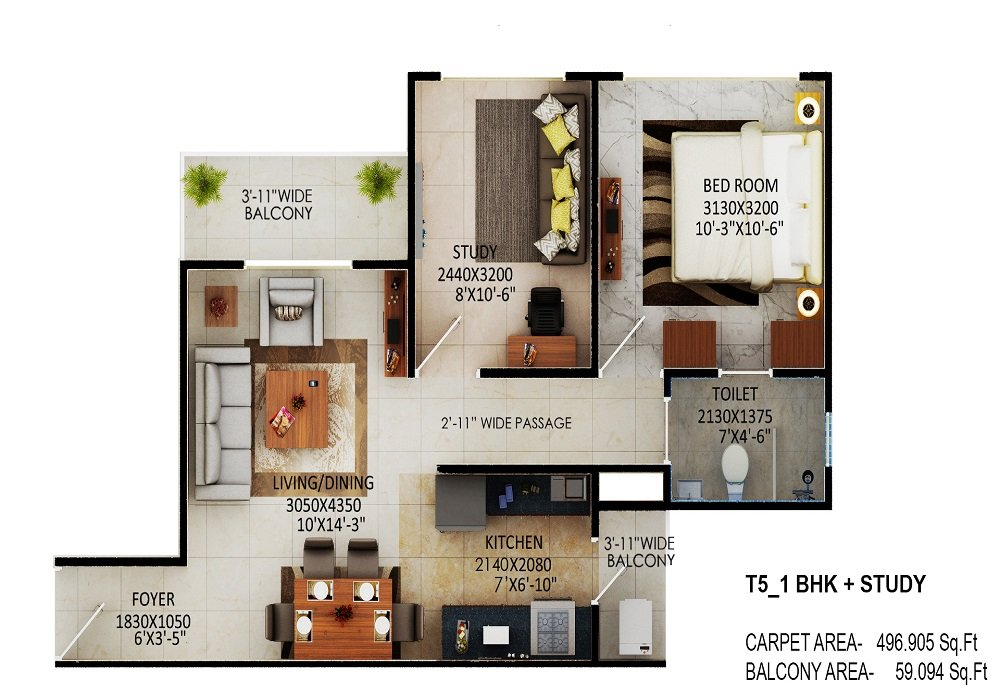 The Millennia Sector 37C Affordable Housing Scheme 1bhk