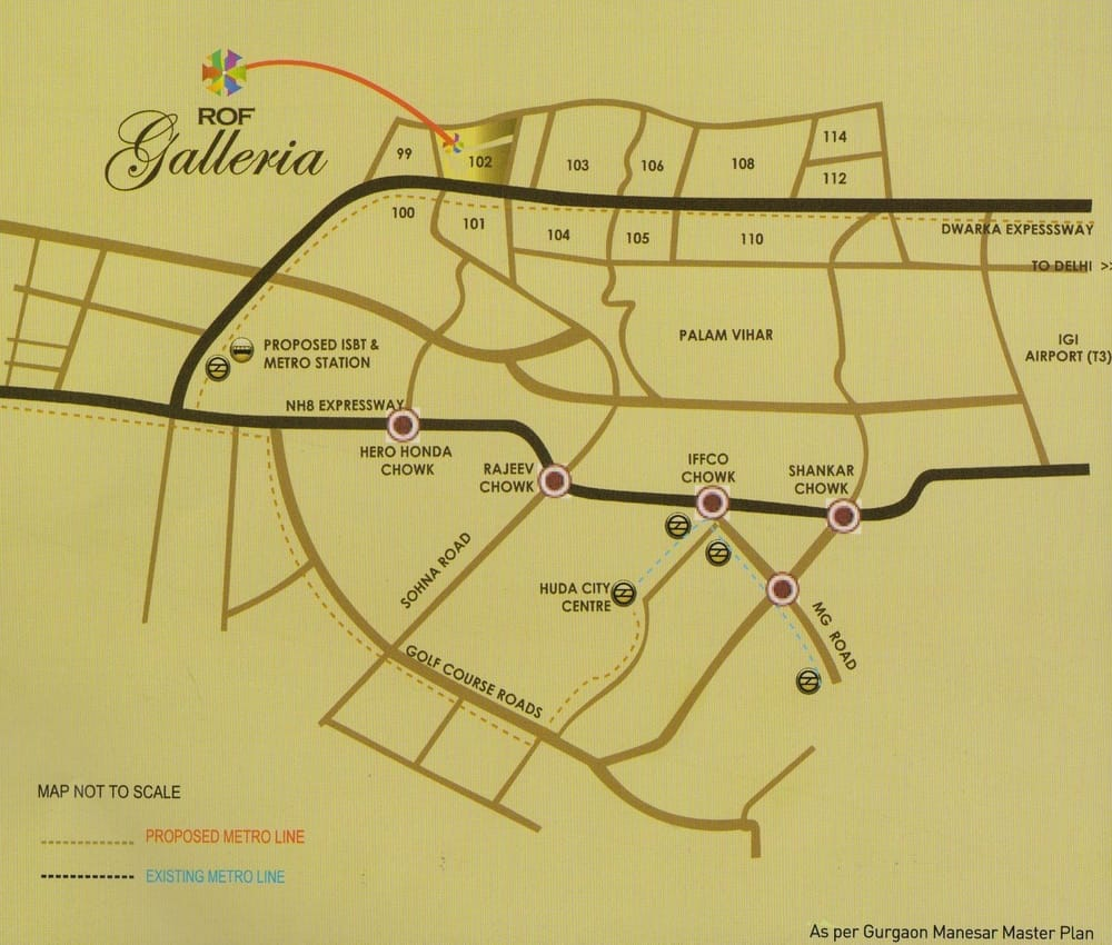 ROF GALLERIA LOCATION MAP
