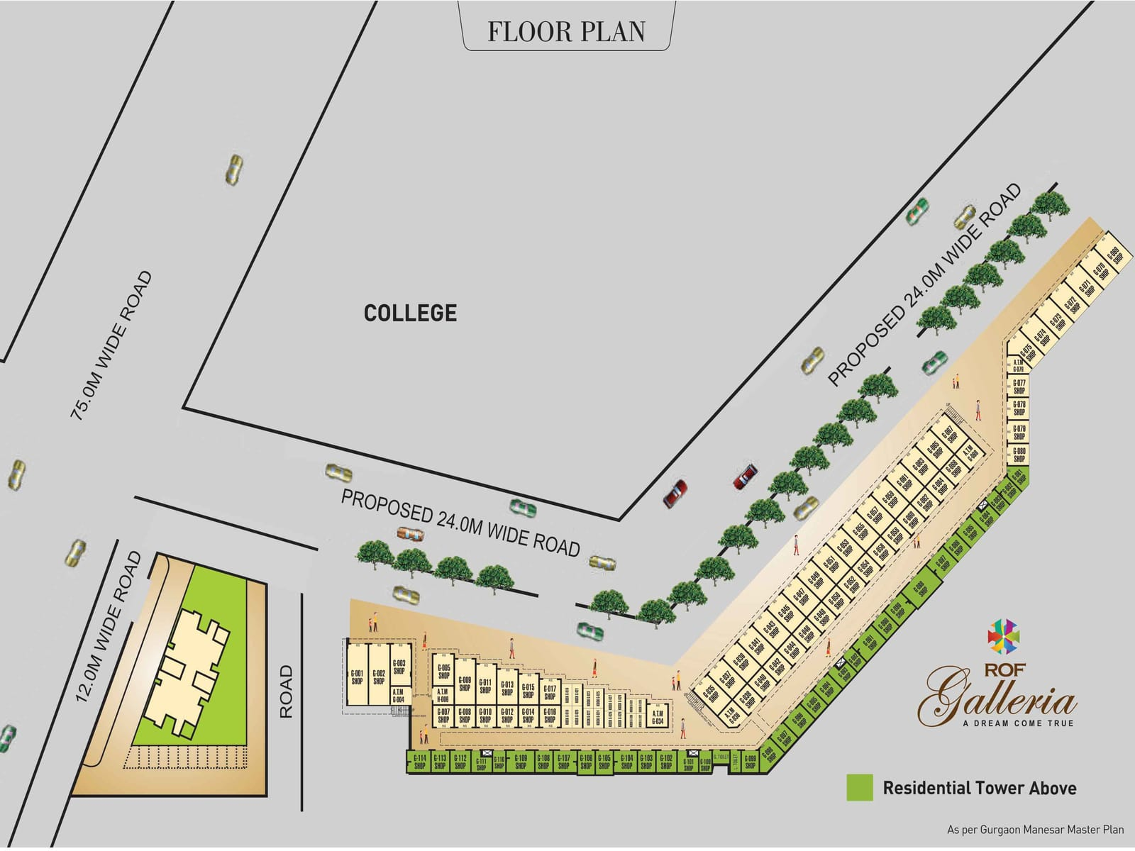 ROF GALLERIA SECTOR 102 FLOOR PLAN