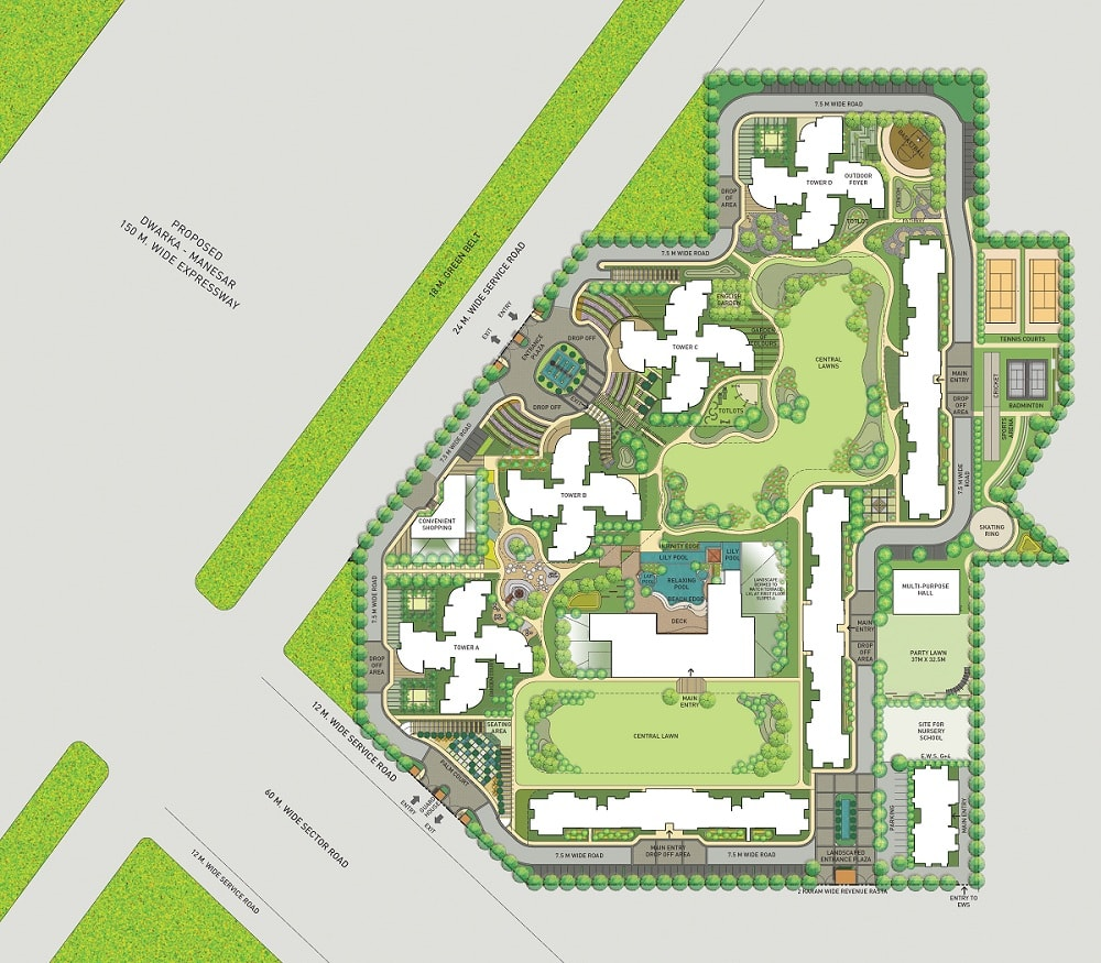 Indiabulls enigma sector 110 site plan