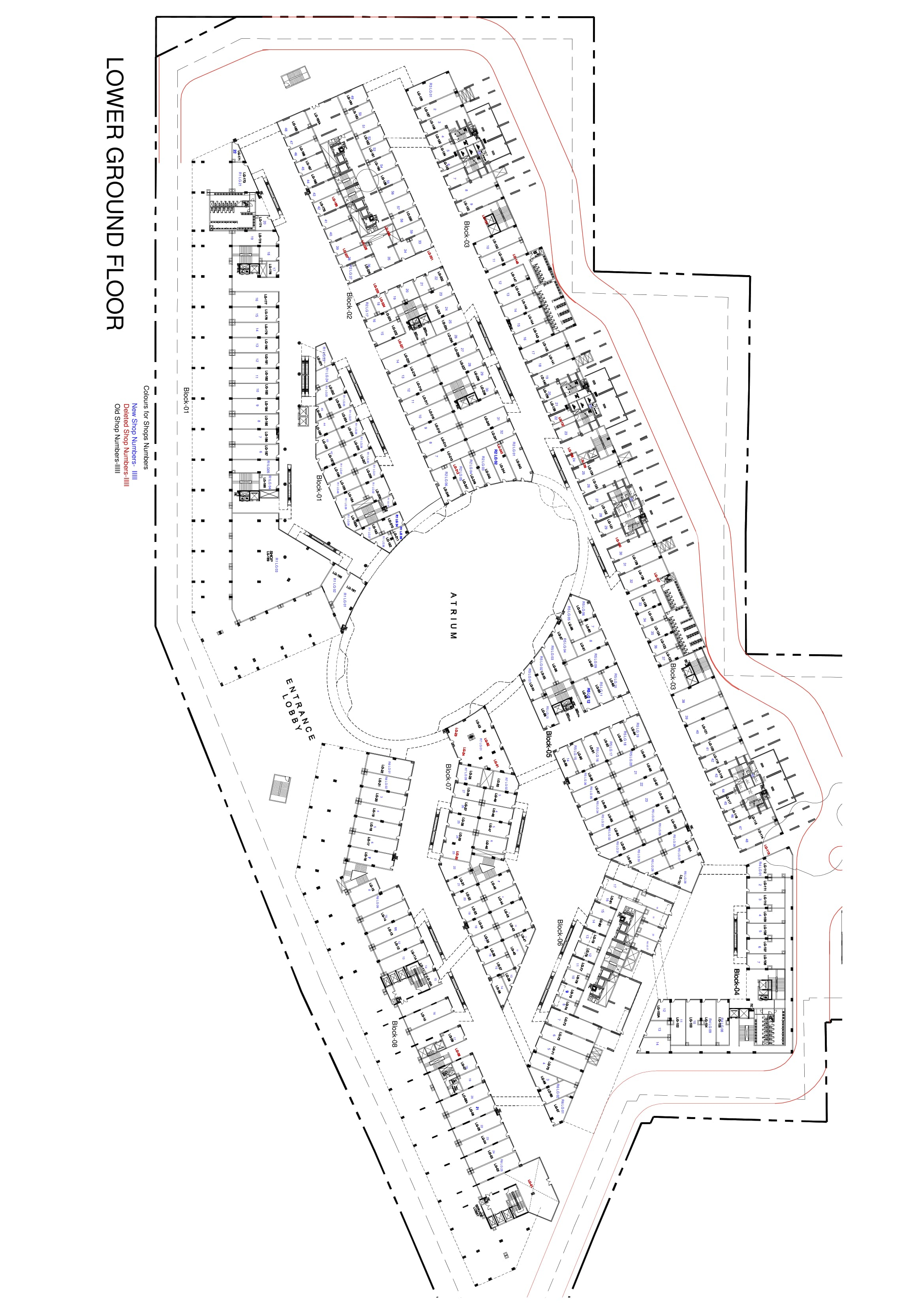65th Avenue Sector 65 lower Ground Floor Plan