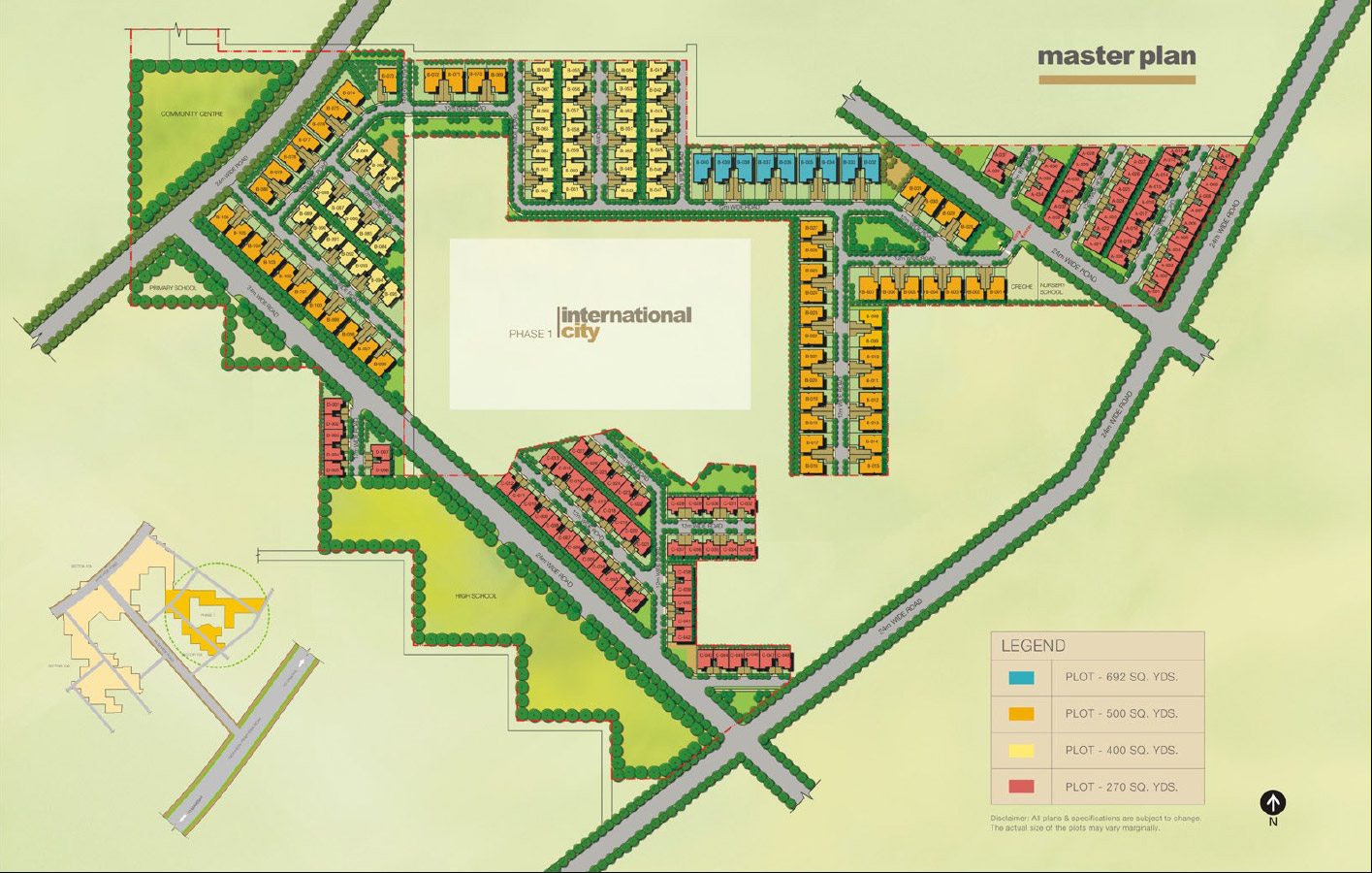 Site Plan of Sobha International City
