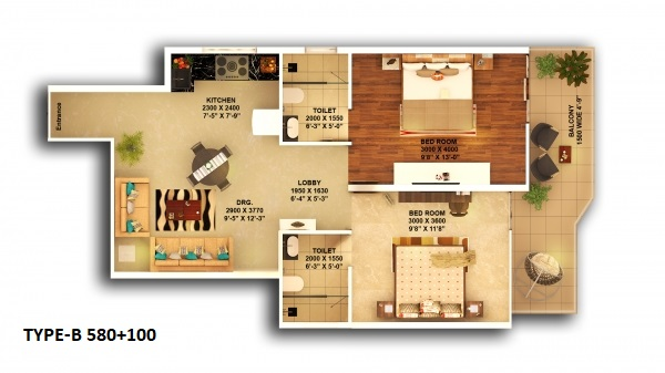 Affordable Housing Sector 67a Gurgaon Floor Plan