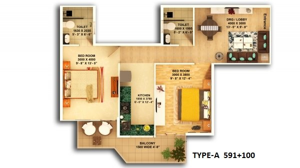 Pyramid Sector 67a Floor Plan