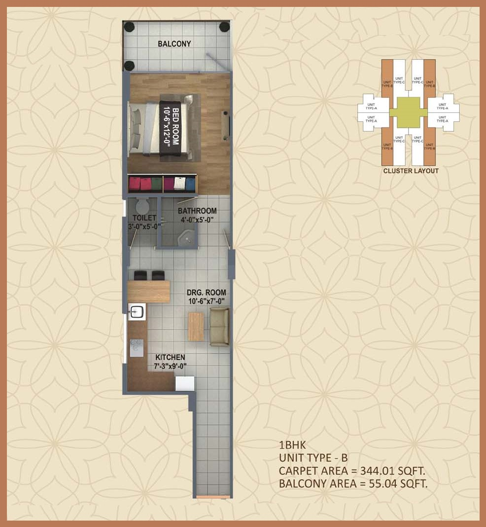 affordable housing project in sector 58 gurgaon 1 bhk floor
